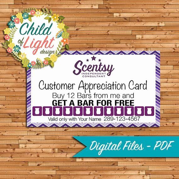 Scentsy Loyalty Cards Fresh Authorized Scentsy Vendor Business Cards Independent Loyalty Card Template Printing Business Cards Custom Business Cards