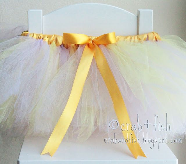 Fabulous tutu tutorial using ribbon and tulle. Customize with orange and black for the perfect little Halloween outfit.