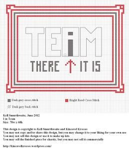 I In Team free cross stitch pattern