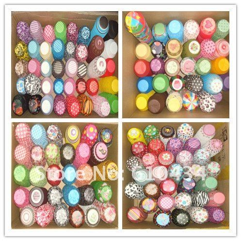 1000pcs cake pan Cupcake Liners Muffin  paper Baking Cups cake push up containers cupcake form decorating tool party decoration $14.00