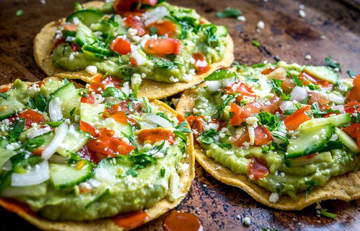 These Vegan Avocado Hummus and Cucumber Pico de Gallo Tostadas will make even the crankiest of carnivores take a second bite. So good!