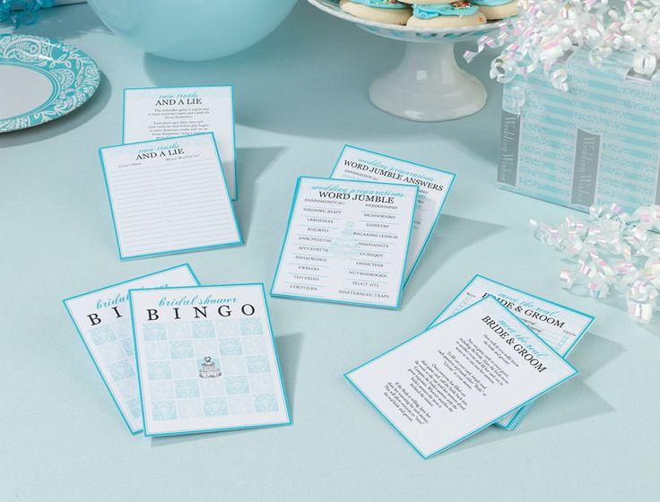 bridal shower game packet