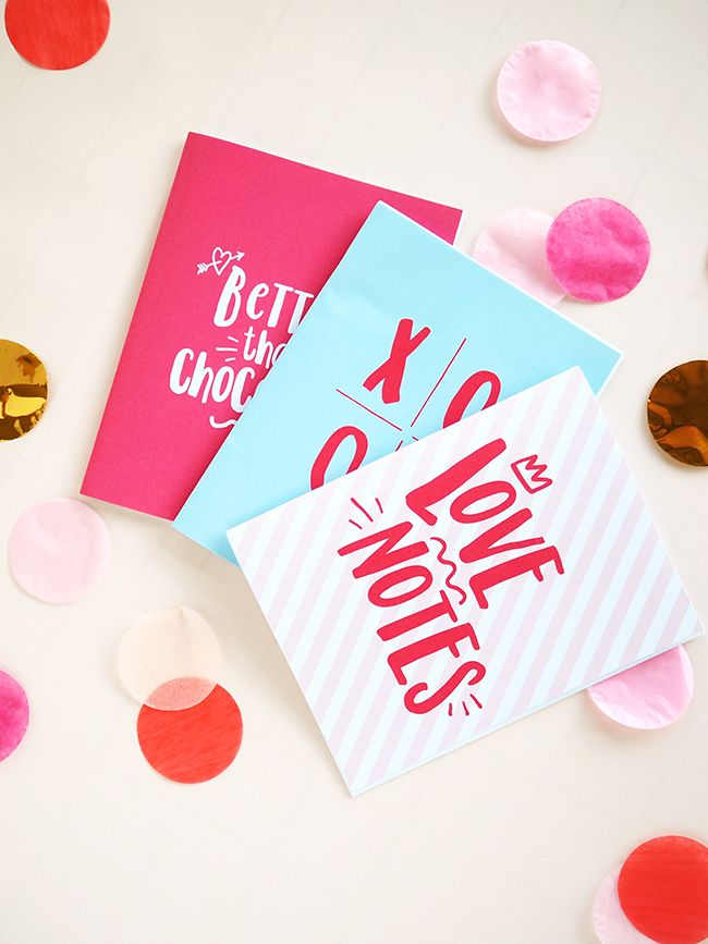 Love Notes Printable Notebook Covers | DESIGN IS YAY!