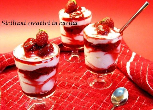 Crema di yogurt e fragole