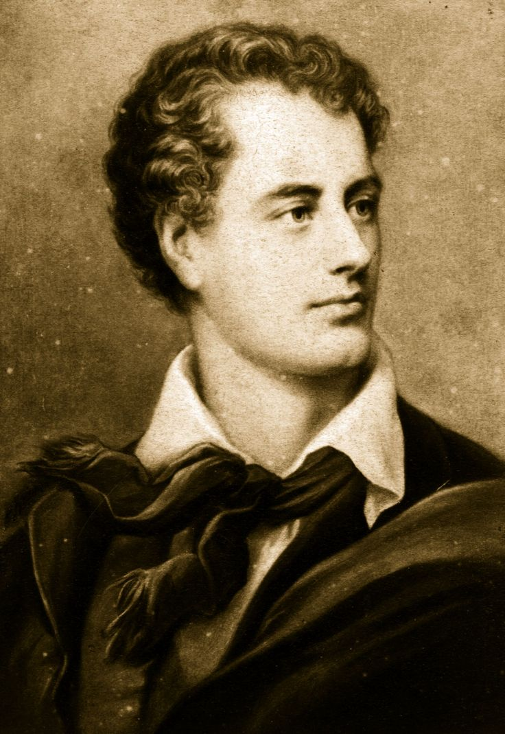 George Gordon, Lord Byron: Adventure traveler, poet, dandy, leader of fashion.