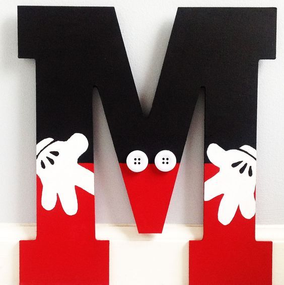 """Inspired by your favorite childhood cartoon character. Monogrammed letter is available 13.5"""", any letter of choice! Can be hung, mounted on a stand, perfect to display on a shelf, bookcase, or for you:"""