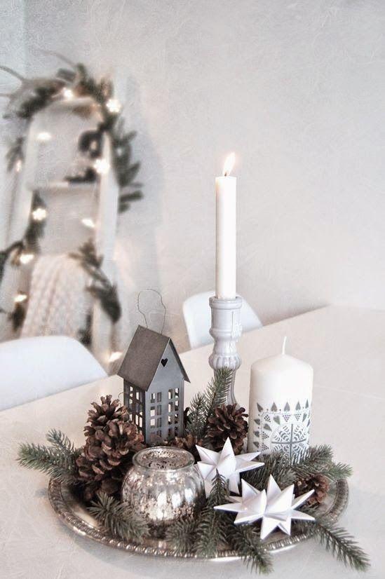 498 best Centros de mesa Navideo images on Pinterest Christmas