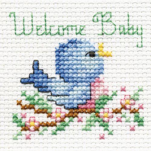 Bucilla ® Counted Cross Stitch - Beginner Stitchery - Mini - Welcome Baby