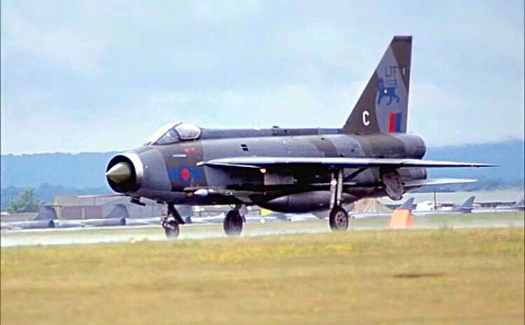 A Royal Air Force Electric Lightning on a takeoff roll.