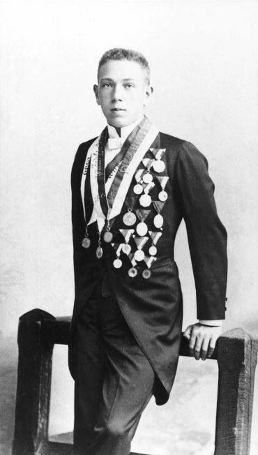 Hajós Alfréd the first hungarian who won gold medal at the Olympics in Athens in 1896 ( the first modern Olympic games)