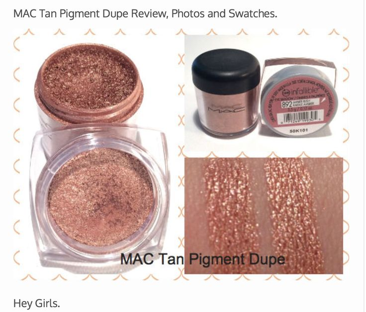 Loreal Amber Rush dupe for MAC Tan Pigment
