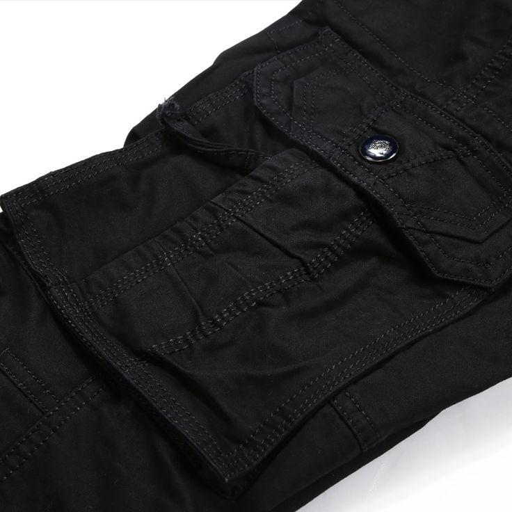 FUHAO 2016 Multi Pocket Casual Pants Solid Mens Cargo Pants Military Style Men Trousers Straight Leg Casual Pants Male, 275E