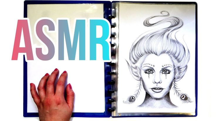 ASMR drawing collection & plastic folder page turning, no talking. I'm showing you my drawings, tapping on them, turning pages of a plastic folder of my drawings and showing you my pastel drawings with baking paper between them.