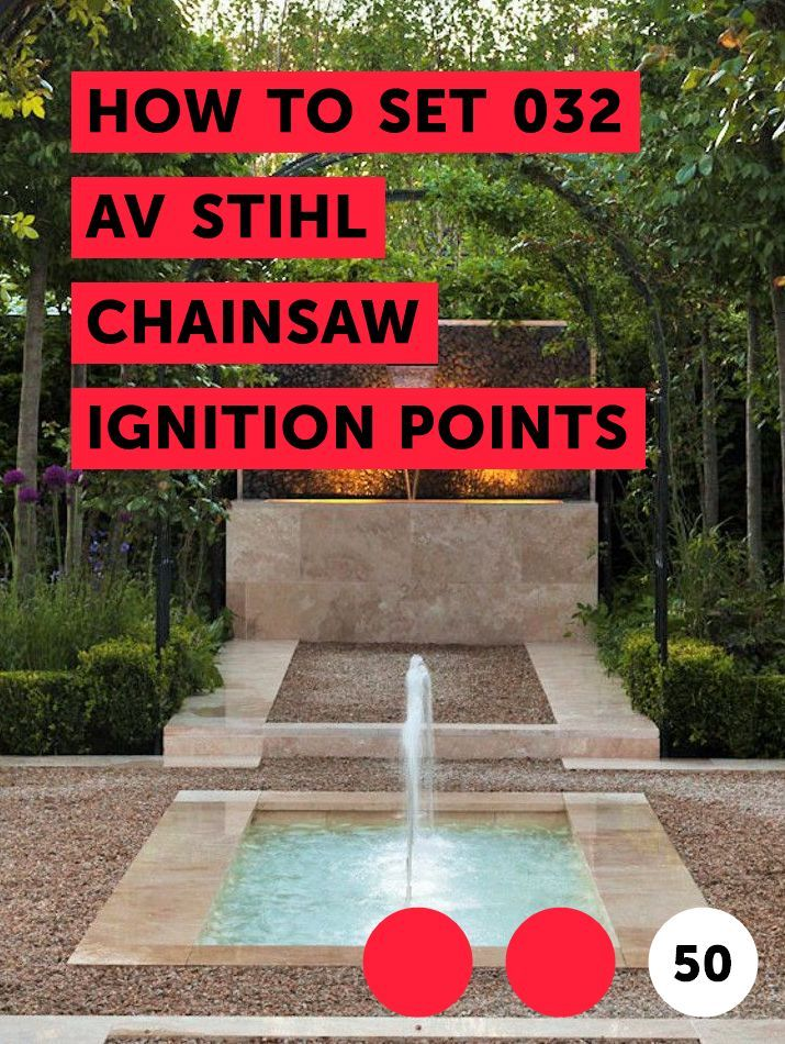 How to Set 032 AV Stihl Chainsaw Ignition Points   Garden
