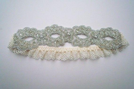 Goddess beaded garter by florriemitton on Etsy