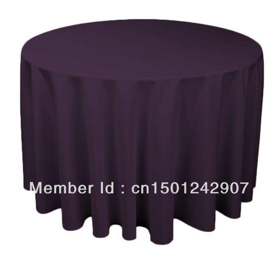 120  тёмный фиолетовый круг скатерть полиэстер без орнамента стол крышка для свадьба события и ну вечеринку украшение