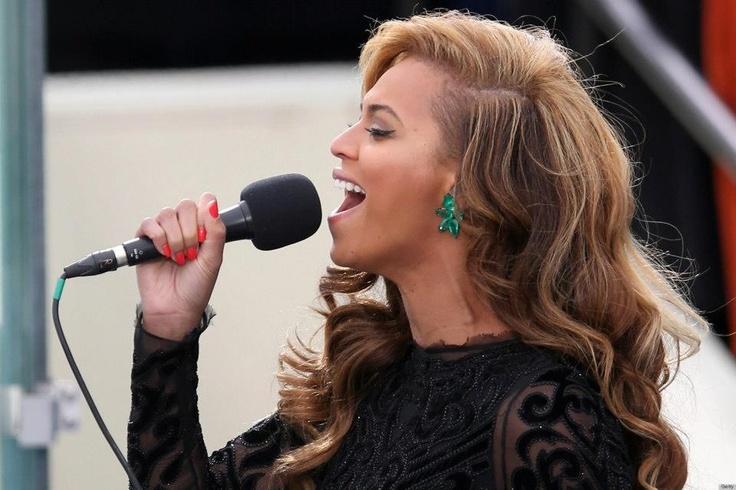 Beyoncé en la toma de posesión de Barack Obama (21/01/2013)