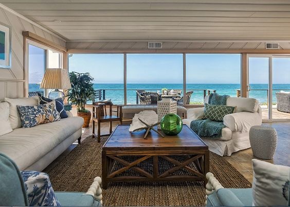 Coastal Interiors. Causal, Comfortable beach house with coastal interiors…