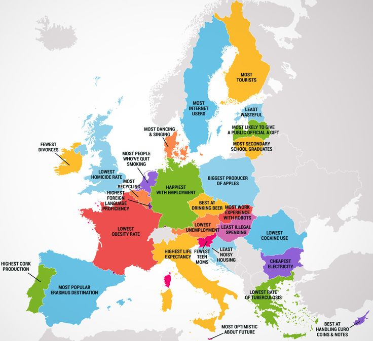 Four maps show 50 states and european countries best and worst qualities   Big Think