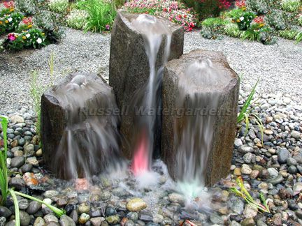 HydroRock™ Rock Column Fountains By Russell Technologies