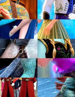 Costume details from Frozen.