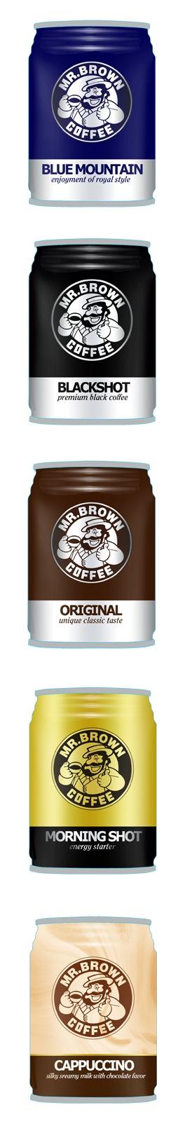 packaging design   mr. brown coffee