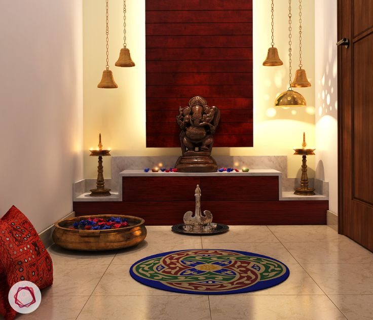 Elaborate Puja Room Mandir Designs
