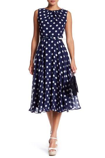 Image of Eliza J Sleeveless Belted Midi Dress