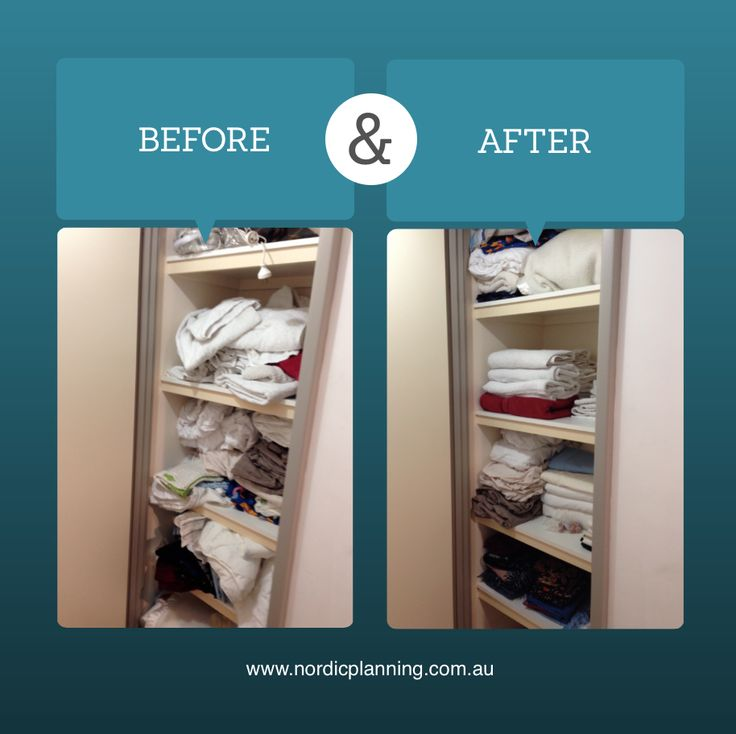 Before & After: Linen cupboards with too much linen and no systems turned into an organisers dream with neatly stacked linen and towels  Kaarin, Professional Organiser at Nordic Planning in Perth
