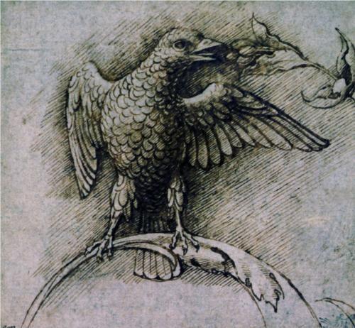 Bird on a branch - Андреа Мантенья