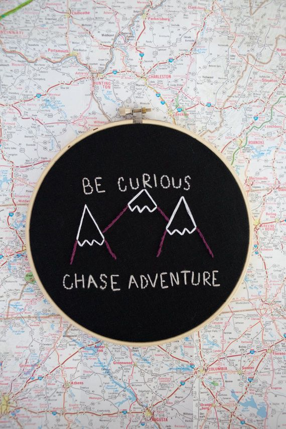 This wanderlust embroidery — $22