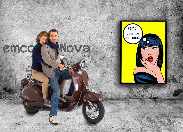 moderne elektrische retro scooter Nova van emco