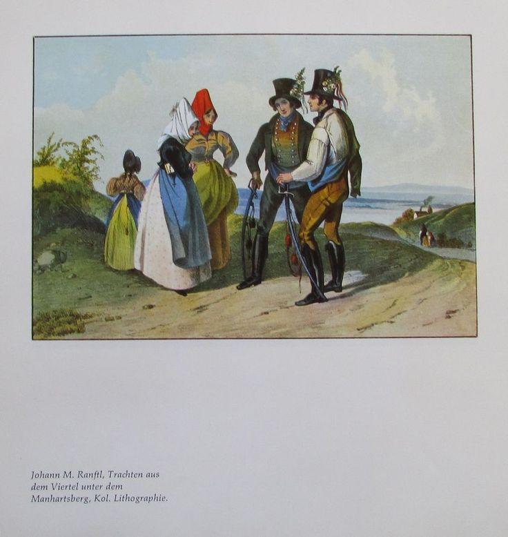 TRACHTEN AUS DEM VIERTEL UNTER DEM MANHARTSBERG JOHANN M RANFTL Kol. Lithografie