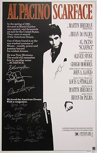 SCARFACE FULL SIZE MOVIE POSTER SIGNED BY PACINO + 10 OTHERS W/ PROOF PSA/DNA   eBay