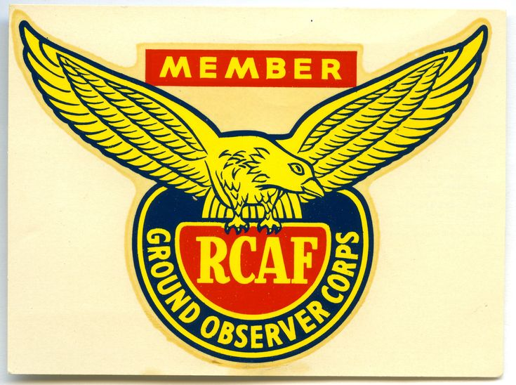 RCAF - Ground Observer Corps - Member Sticker