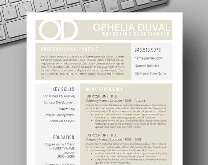 83 best Two Page CV Template - Word images on Pinterest Resume - free cafe menu templates for word