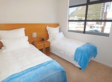Self catering accommodation, Muizenberg, Cape Town   Twin beds in apartment 2  http://www.capepointroute.co.za/liveit-muizenberg.php
