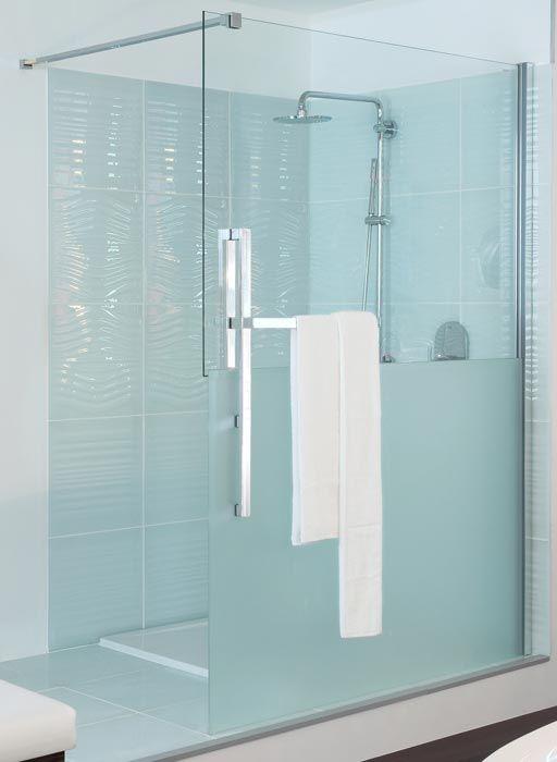 Schamhafte Ganzglas-Walk-In-Dusche von Hüppe