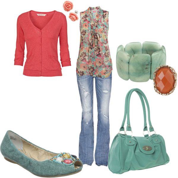 LOVE LOVE LOVE: Amyjoyful1, Color Together, Color Pallets, Beautiful Color, Flats Boots, Beauty Color, Floral Salmon, Polyvore Minus, Leather Ballet Flats