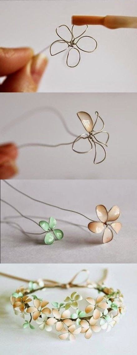 http://craftprojectideas78444.blogspot.com/2015/03/nail-polish-and-wire-flowers.html