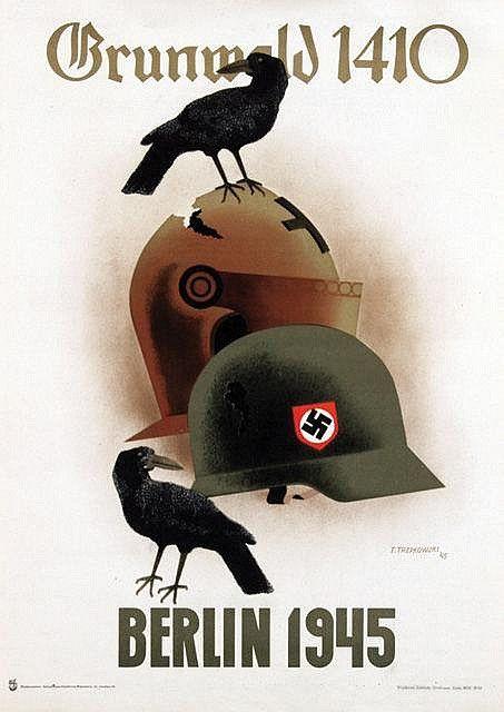 Poster by Tadeusz Trepkowski - Grunwald 1410 Berlin 1945