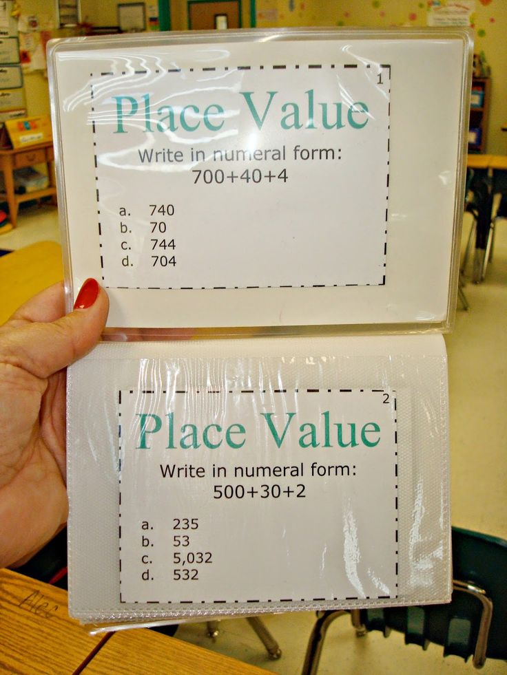 Sunny Days in Second Grade: use photo albums to hold task cards--no laminating!
