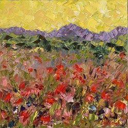 Judith Babcock | Pôvodný Palette Knife Flower Art Impresionizmus krajinomaľby flauta koncertu Colorado impresionistické Judith Babcock