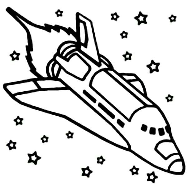Space Exploration Satellite, Flying Saucer And Space Shuttle.. Royalty Free  Cliparts, Vectors, And Stock Illustration. Image 129230768.