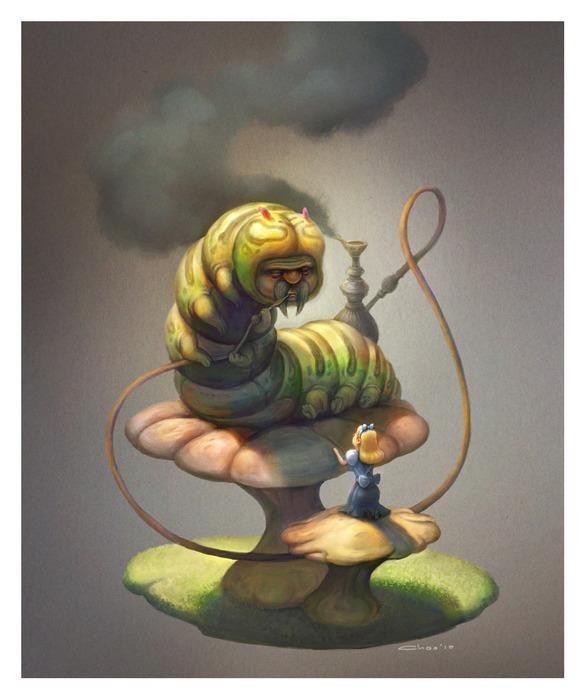 Гусеница из «Алисы в Стране Чудес» в работах современных ...