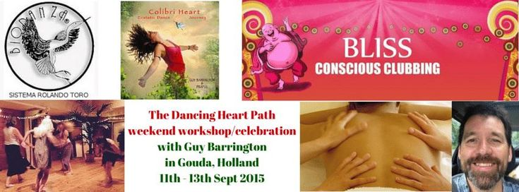 Guy Barrington geeft een weekend lang workshops, onder meer Biodanza in De Balzaal in Gouda van 11, 12 en 13 september 2015