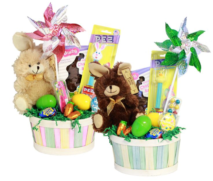 262 best easter images on pinterest candy buffet easter bunny colorful easter candy gift basket with chocolate scented plush bunny negle Images