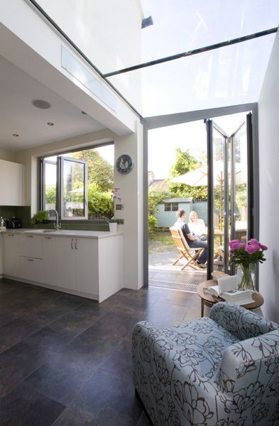 would max out window & door space using bifold windows as well & looks as though there's a gain