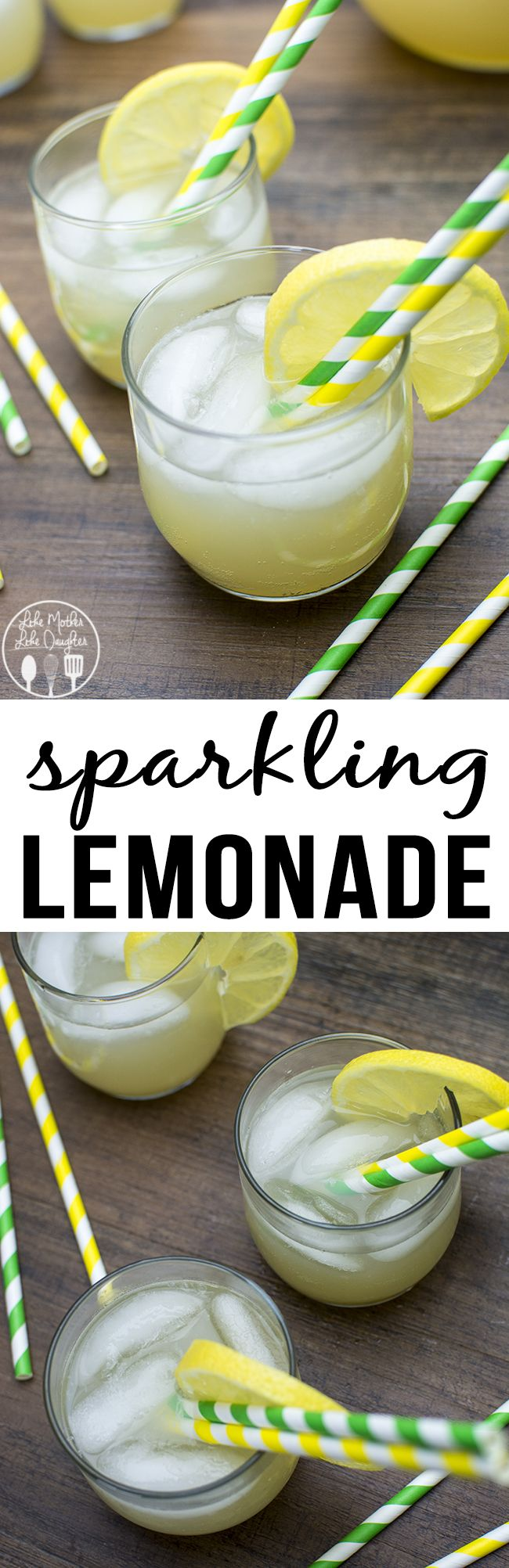 Sparkling Lemonade - This easy to make sparkling lemonade is only 2 ingredients and is the perfect refreshing bubbly drink for any occasion.