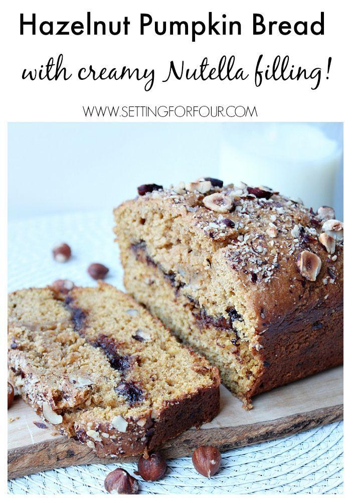 Hazelnut Pumpkin Bread with Nutella Cream Filling | Recipe ...